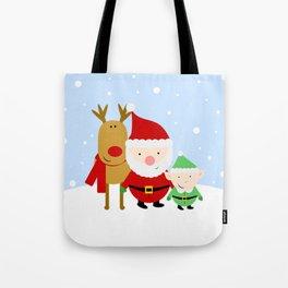 Santa and His Helpers Tote Bag