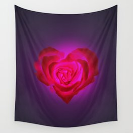 Heart of flower Wall Tapestry