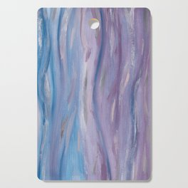 Touching Purple Blue Watercolor Abstract #2 #painting #decor #art #society6 Cutting Board