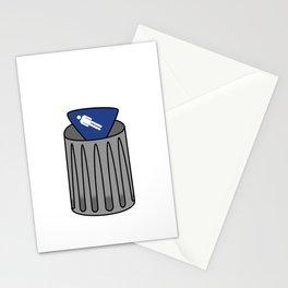 Men Sign in Trash Stationery Cards