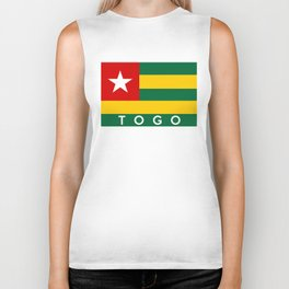 flag of Togo Biker Tank