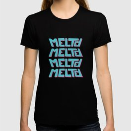 Melted, the solid typography. T-shirt