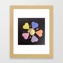 soap and natural sponge Framed Art Print