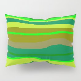 Green Multi Brush Strokes Pillow Sham