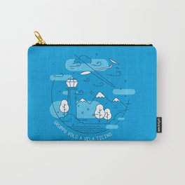 GVVT - Line art blue version Gruppo Volo a Vela Ticino Carry-All Pouch