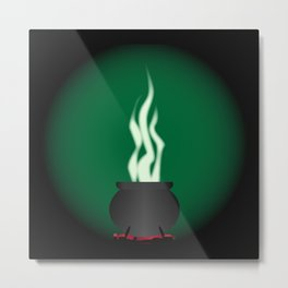 Witches Cauldron Poster Background Metal Print