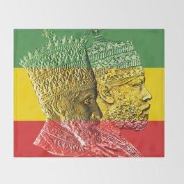 Haile Selassie King Menelik Throw Blanket