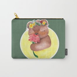 Midsommar Bear with Flower Crown Carry-All Pouch