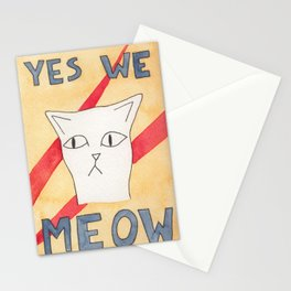 Cats Uprising - Yes We Meow Stationery Cards