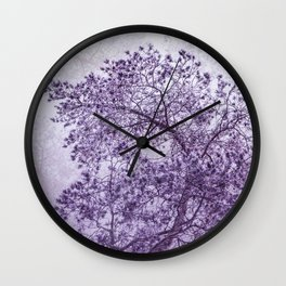 Beautiful Pine Tree Silhouette Purple Color #decor #society6 #buyart Wall Clock