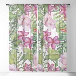 Tropical Garden 3 Sheer Curtain
