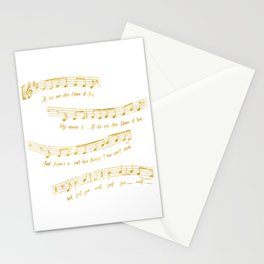 My Name is Alexander Hamilton | Musical Notes Stationery Cards