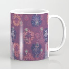Lotus flower - mulberry woodblock print style pattern Coffee Mug