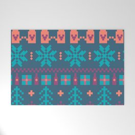 Fair Isle Christmas Welcome Mat