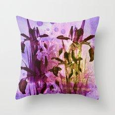 Iris and light Throw Pillow