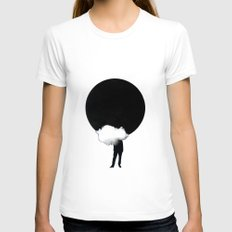 Eclipse White Womens Fitted Tee MEDIUM