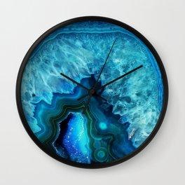 Bright Blue Agate Wall Clock