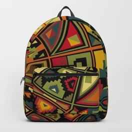 African Traditional Fabric Patterns Backpack