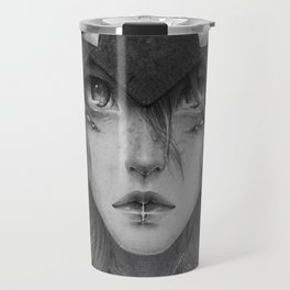 Emotionless Dragon Girl Travel Mug
