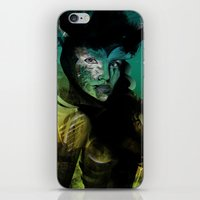 angel iPhone & iPod Skins featuring Angel by Irmak Akcadogan