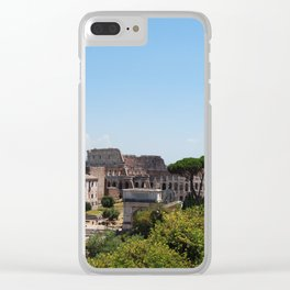 Colosseum From A Distance Clear iPhone Case