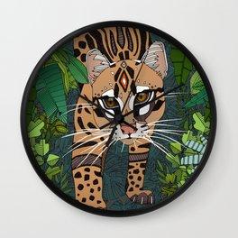 ocelot jungle nightshade Wall Clock