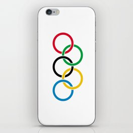 Flag of olympics games-olympic,olympic game,sport,coubertin, circles,medal,fun,international iPhone Skin
