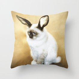 Cat Rabbit Throw Pillow