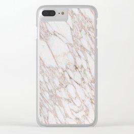 White Marble Carrara Calacatta Clear iPhone Case