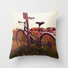 no cycling  Throw Pillow