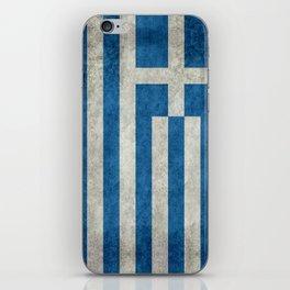 Flag of Greece, vintage retro style iPhone Skin