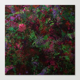 Purple Warfare - Abstract purple, pink, green and black abstract Canvas Print