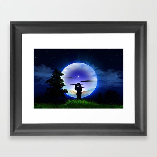 Love is infinite. Framed Art Print