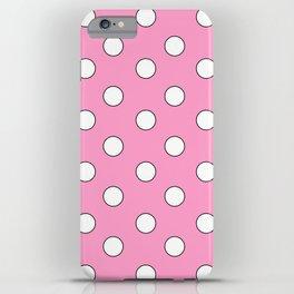 Pink Pastel Polka Dots iPhone Case