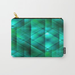 Facets of the Stone (emerald) Carry-All Pouch