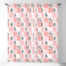 Sweet Bunny Sweet Pea Quilt Blackout Curtain