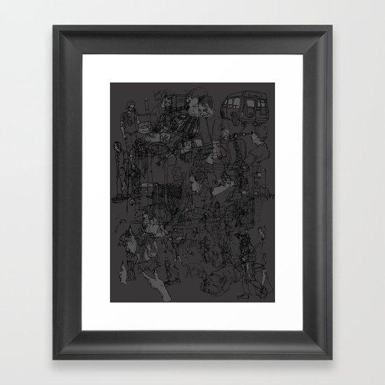 Sketchy Framed Art Print