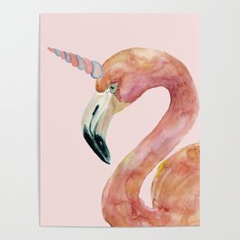 Be Special - Flamingo Unicorn Poster