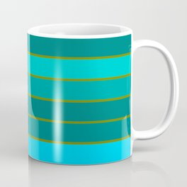 Teal Stripes Coffee Mug