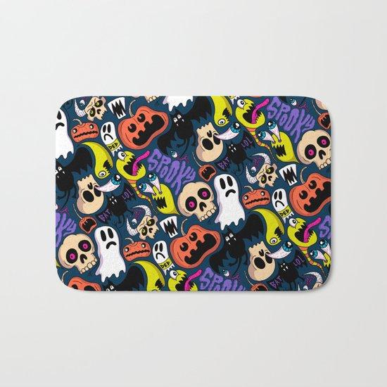Spooky Pattern Bath Mat