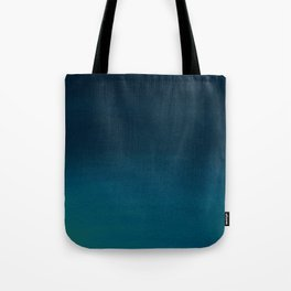 Hand painted navy blue green watercolor ombre brushstrokes Tote Bag
