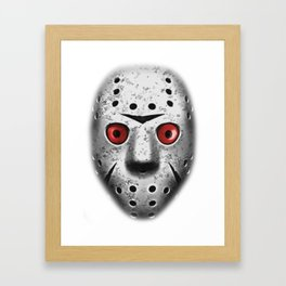 Jason Saw Mask Framed Art Print