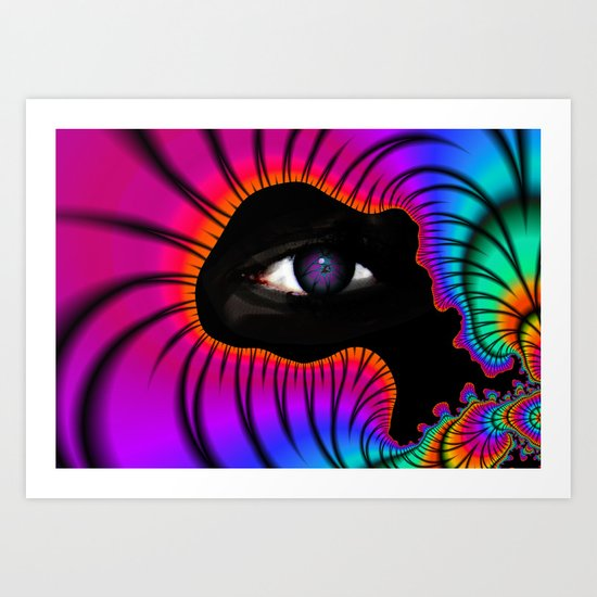 In a World of Color Art Print