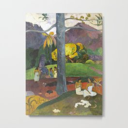 Mata Mua by Paul Gauguin Metal Print