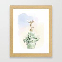 Colonne de Juillet , Place de la Bastille Framed Art Print