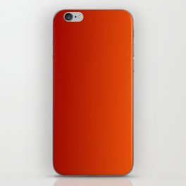 Ombre in Red Orange iPhone Skin
