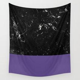 Ultra Violet Meets Black Marble #1 #decor #art #society6 Wall Tapestry