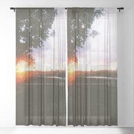 Summer nights in Stockholm Sheer Curtain