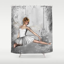 Land of Grey Shower Curtain