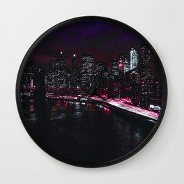 Red New York City Wall Clock